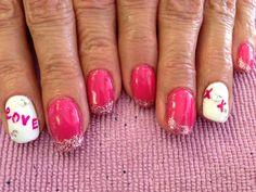Valentines nails By Kristi Owens At Astonish salon Midland tx