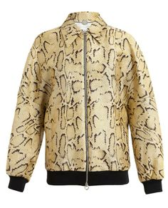 STELLA MCCARTNEY   Python Printed Silk-blend Bomber Jacket