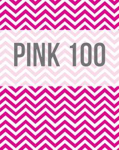 Pink 100 - chevron printable