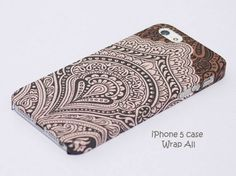 Vintage Brown Bali Pattern iPhone 5 case / iPhone 5S by WrapAll