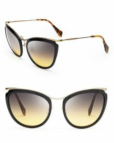 Miu Miu Cat Eye Sunglasses  Bloomingdale's