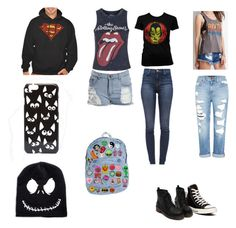"""""""Jane OC Design"""" by gracewaterhole on Polyvore featuring Forever 21, Topshop, Genetic Denim, J Brand, Converse and ASOS"""
