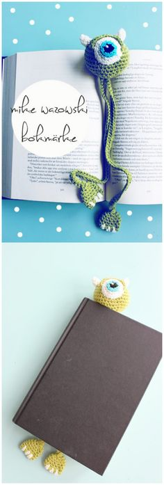 Crochet Amigurumi Rabbit Patterns Monster Bookmark FREE Crochet Pattern - Every crocheter has a go-to gift pattern. This collection of pretty crochet bookmark patterns can probably help you for next rush of holiday gifts. Marque-pages Au Crochet, Crochet Double, Crochet Mignon, Crochet Patron, Crochet Gratis, Crochet Books, Cute Crochet, Crochet For Kids, Learn Crochet