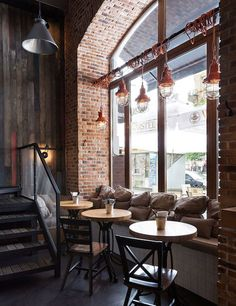 10 stunning industrial cafe interiors | True Burger Bar, Kiev, Ukraine