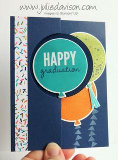 Julie's Stamping Spot -- Stampin' Up! Project Ideas by Julie Davison: VIDEO: Celebrate Today Graduation Circle Flip Card...