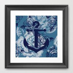Anchor Art IV Framed Art Print by studio VII - http://society6.com/vivinicolin/Anchor-Art-IV_Framed-Print#12=60&13=55