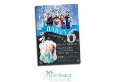 Frozen birthday invitation party full cast by GreyhoundGraphics