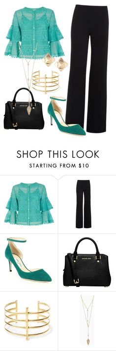 """blue outfit"" by valentina-miyake-toscano on Polyvore featuring Temperley London, Alexander Wang, Jimmy Choo, MICHAEL Michael Kors, BauXo and Valentino"