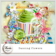 Dancing Flowers :: ALL NEW :: Memory Scraps