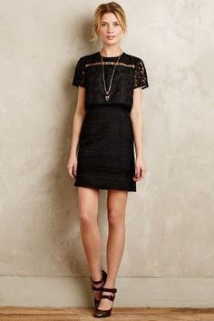 Anna Sui Eventide Embroidered Organza Dress #anthrofave