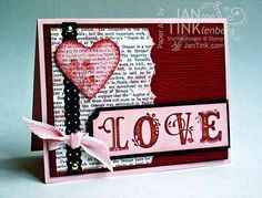 Elegant Love Happy Valentine's Day Fancy Greeting Card by JanTink