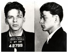 FRANK SINATRA~Early Arrest*MUG SHOT