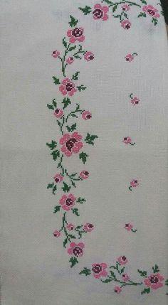 Cross Stitch Borders, Cross Stitch Rose, Cross Stitch Designs, Cross Stitch Patterns, Crewel Embroidery, Baby Knitting Patterns, Needlepoint, Diy And Crafts, Photo Craft