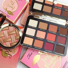 """Just Peachy I am lost for words... okay I'll try to come up with a few... My new @toofaced palette arrived last night and OMG it's love at first sight (and first sniff!) I can not wait to use it and film an eye look and swatches for YouTube! What did you grab from the Peaches & Cream collection? "" - @makeup.just.for.fun #regram @sephora #tfpeachesandcream #toofaced"