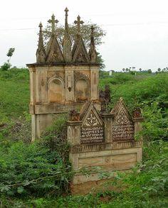 Cemetary  in Chettinad, Tamil Nadu, India by FabIndia, via Flickr