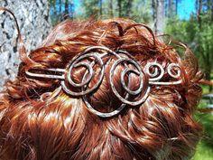 Hair Slide Hair Clip Copper Hair Clip Barrette by ElizabellaDesign, $18.50