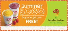 B1G1 FREE Jamba Juice Coupon (6/29-7/4) on http://www.icravefreebies.com