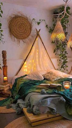 Room Ideas Bedroom, Bedroom Decor, Bed Room, Bohemian Living Rooms, Beach House Decor, Home Decor Trends, Decoration, Boho Decor, Design