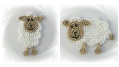 Sheep+application+sheep+crocheted+crocheted+patch+by+SavoeDesign