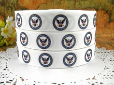 Items similar to Department Of Navy printed grosgrain ribbon for Hairbow on Etsy Military Ribbons, Key Fobs, Grosgrain Ribbon, Hair Bows, Navy, Unique Jewelry, Handmade Gifts, Prints, Character