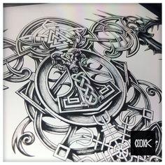 Projeto exclusivo - Viking/Nórdico aprovado! 🤘🏼⚡️⚡️ . . . . . . -Agendamentos- 📲 WhatsApp (11)983915525 📩 Victoronetattoo@gmail.com… Viking Tattoo Sleeve, Viking Tattoo Symbol, Armor Tattoo, Norse Tattoo, Celtic Tattoos, Norse Pagan, Viking Symbols, Viking Art, 3d Tattoos