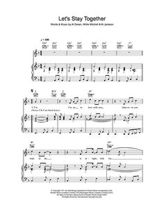 Print and download lead sheets for lets stay together by al green lets stay together fandeluxe Image collections