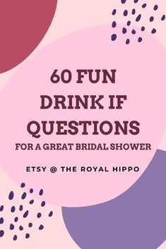 Ready to party? Grab this fun game package to have an amazing night of fun with all your besties. 60 fun drink if questions included! Hen Party Games, Fun Games, Bachelorette Drinking Games, Printable Bridal Shower Games, Fun Drinks, Besties, This Or That Questions, Night, Unique