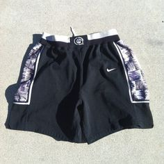 6a9772022a2 Vintage Authentic Georgetown Hoyas Nike Jersey Shorts 38 XL SEWN Iverson