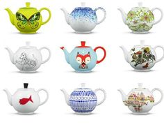 12 Months of Teapots celebrate Crate and Barrel's 50th Anniversary: http://www.crateandbarrel.com/special-features/anniversary-teapots/1