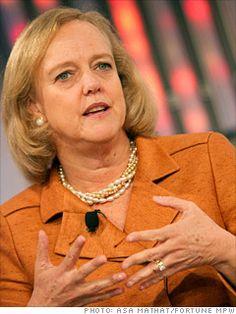 Meg Whitman Hewlett-Packard Whitman got her start as a brand manager at Procter & Gamble in 1979.
