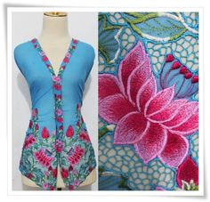 Batik Kebaya, Batik Dress, Punjabi Suits, Fabric Patterns, Ornament, Textiles, Saree, Glamour, Embroidery