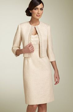 Tahari by Arthur S. Levine Metallic Jacquard Jacket & Dress available at #Nordstrom