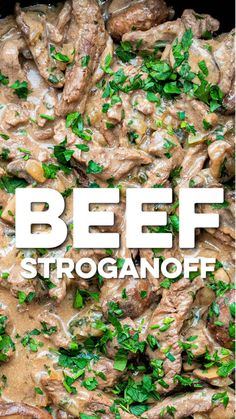 Quick, easy and delicious Beef Stroganoff. Practically syn-free on Slimming World, only 7 SmartPoints on Slimming World Dinners, Slimming World Recipes Syn Free, Slimming Eats, Slimming World Tips, Slimming World Beef Stroganoff, Best Beef Stroganoff, Beef Stroganoff Instant Pot Recipe, Stroganoff Sauce Recipe, Cooking Recipes