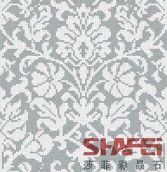 Crystal Glass Mosaic Mural PT-050(Size: 2000x1600mm) Knitting Charts, Knitting Stitches, Knitting Patterns, Crochet Patterns, Thread Crochet, Filet Crochet, Cross Stitch Samplers, Cross Stitch Patterns, Pixel Pattern