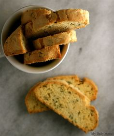 Goat Cheese and Thyme Biscotti FROM My Daily Morsel