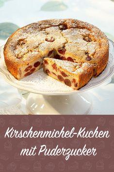 Kirschenmichel Kuchen Mit Puderzucker