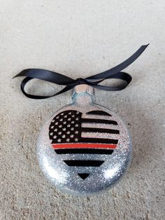 christmas gifts ideas Excited to share this item from my shop: Firefighter Christmas ornaments, glass ornaments, firefighter gift, thin red line Glitter Ornaments, Diy Christmas Ornaments, Christmas Balls, Diy Christmas Gifts, Christmas Shopping, Glass Ornaments, Handmade Christmas, Holiday Crafts, Christmas Crafts