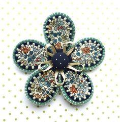 Fabric Flower Brooch £12.00