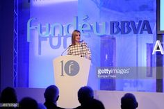 Queen Letizia of Spain attends X anniversary of Fundeu BBVA at BBVA Foundation headquarters on February 18, 2015 in Madrid, Spain.