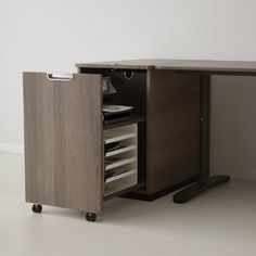 GALANT Storage unit for printer, gray gray 17 - Ikea DIY - The best IKEA hacks all in one place Printer Storage, Printer Cabinet, Space Saving Furniture, Home Office Furniture, Furniture Design, Pipe Furniture, Furniture Vintage, Furniture Ideas, Bedroom Furniture