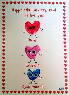 Valentine's Fingerprints Heart Card