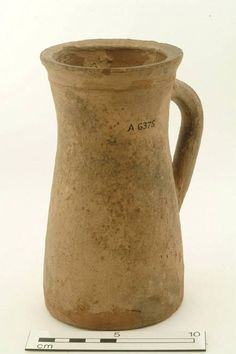A6375: jug; drinking jug Production date: Medieval; late 13th-mid 14th century Measurements: H 176 mm; DM 100 mm