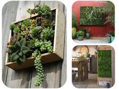 Jardines verticales de pared Vertical wall gardens Porch Garden, Patio, Environment, Indoor, Vertical Gardens, Exterior, Green Walls, Plants, Porches