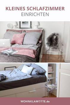 In diesem Beitrag geben wir Dir hilfreiche Tipps, wie Du auch ein kleines Schlafzimmer einrichten kannst und dabei den Raum optimal ausnutzt.
