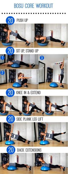 """If you're sick and tired of doing endless crunches and never seeing any results, then this workout is for you! You deserve to get more out of your ab workout. The Stability Ball has been a part of home fitness essentials for over a decade, but the Bosu Ball is slowly creeping into that category. It's part platform and part stability ball, making it the perfect tool to challenge any fitness lover. According to Dr. Joseph Mercola, Bosu stands for """"both sides up"""" since both sides of this ball…"""