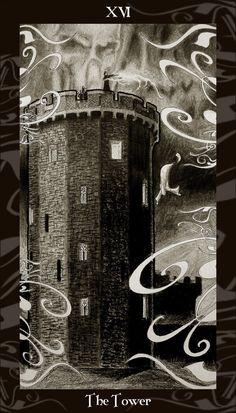 XVI. The Tower: Harry Potter Tarot