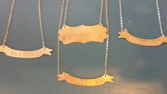 Banner necklaces $30-$36