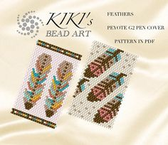 These are my own designed pen cover/ pen wrap patterns using even single drop peyote technique. These wraps/covers fit for G2 pens by Pilot. A pen with this cover can be a perfect personalized gift for a friend or a colleague. I use size 11 Japanese Miyuki Delica seed beads for my designs. These patterns are in PDF format, downloadable directly from ETSY. Please note that my patterns do not include instructions how to do the peyote stitch. The pdf files include: 1. a large picture...