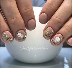 birds spring nail art design manicure