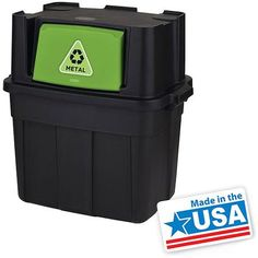 Stackable recycling bins made in USA